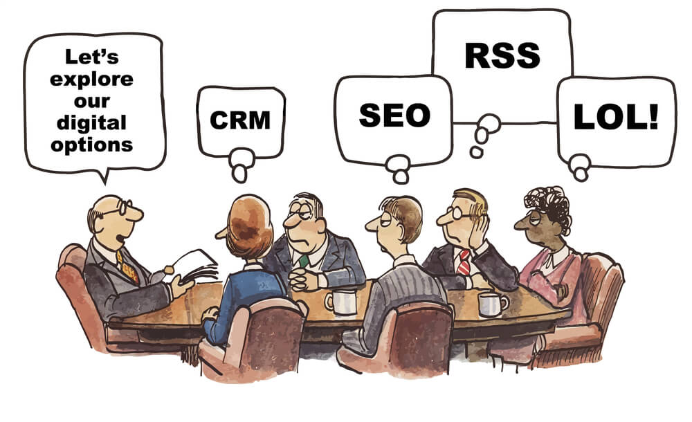People talking about SEO